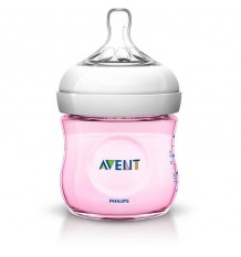 Avent Natural Bottle 125 ml Pink