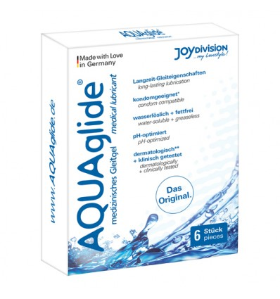 Aquaglide-Gleitgel-Base-Wasser-6 Einzeldosis-2ml