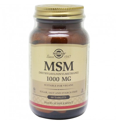 Solgar Msm Methylsulfonylmethane 1000mg 60 Tablets