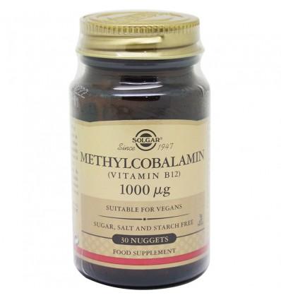 Solgar Methylcobalamin Vitamin B12 1000 mg 30 Tablets