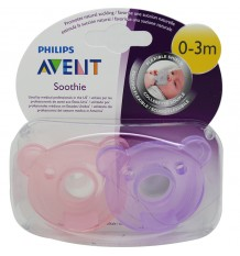 Avent Chupetes Soothie 0-3 Meses Rosa