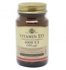 Solgar Vitamina D3 4000 Ui 60 Cápsulas Vegetais
