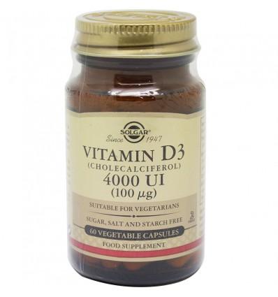 Solgar Vitamin D3 4000 Iu 60 Capsules Vegetables