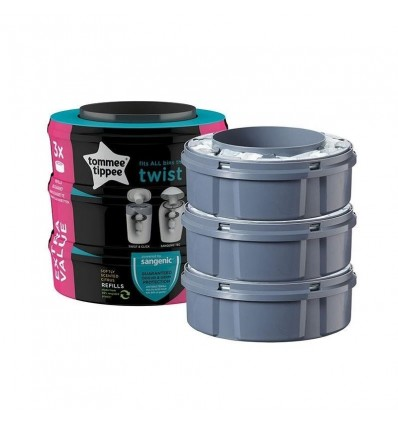 Tommee Tippee Sangenic Twist & Click Spare Parts 3 Units Promotion
