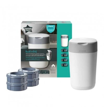 Tommee Tippee Sangenic Twist & Click Container White + 4 Spare Parts