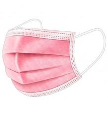 Máscara Higienica 3 Camadas Rosa 10 Unidades
