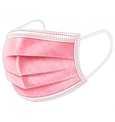 Mascarilla Higienica 3 Capas Rosa 10 Unidades