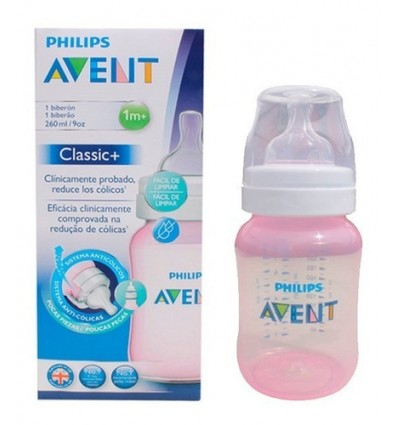 Avent Classic Bottle 260 ml Pink