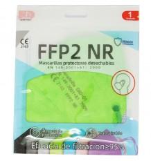 Masque FFP2 NR Promask Vert Électrique, Pack de 5 Unités offrent