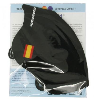 Deanshield Mask Reusable Higienica Adult Black Spain