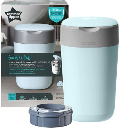 Tommee Tippee Container Of Diapers-Twist & Click Blue