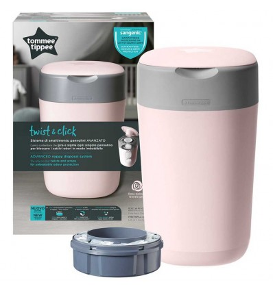 Tommee Tippee Container Of Diapers-Twist & Click Rosa