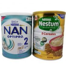 Nan Optipro 2 800g + 8 Cereais Nestum 650g
