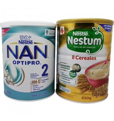 Nan Optipro 2 800g + Nestum 8 Cereales 650g