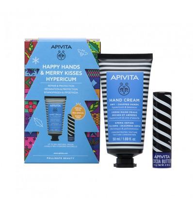 Apivita Chest Cream Hands Hiperico 50ml + Balsamo Lip Butter cocoa 4g