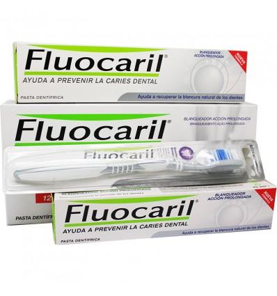 Bleaching Fluocaril Zahnpasta 125ml + Paste 75ml + Pinsel Medium