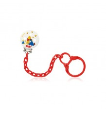 Nuk Chain Soother Winnie red