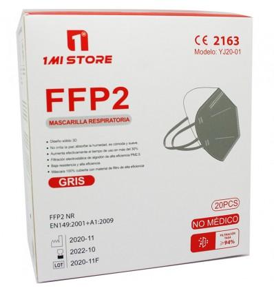 Masque Ffp2 Nr 1MiStore Gris 20 Unités de Remplir la Case