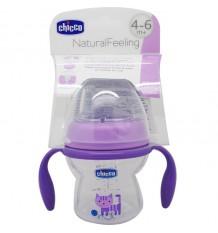 Chicco Primer Vaso Natural 4-6 meses 150 ml morado