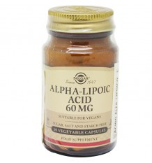 Solgar Alpha Lipoic Acid 60 mg 30 Cápsulas