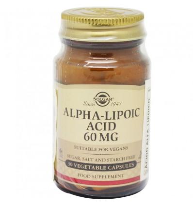 Solgar Alpha Lipoic Acid 60 mg 30 Kapseln