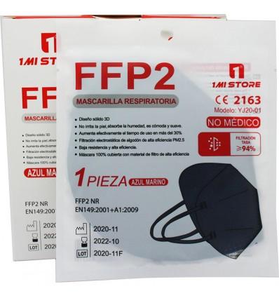 Máscara Ffp2 Nr 1MiStore Azul Marinho 20 Unidades Caixa Completa preço