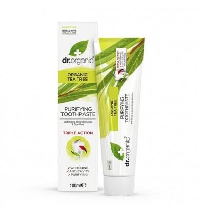 Dr Organic Pasta Dental Alrbol del Te 100 ml