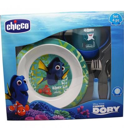 Chicco Buscando a Dory Set de Comida 5 Piezas azul