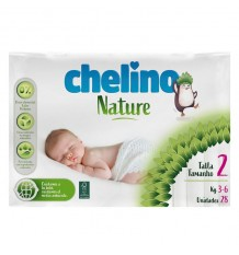 Chelino Nature Tamanho 2 3-6 Kg 28 Unidades