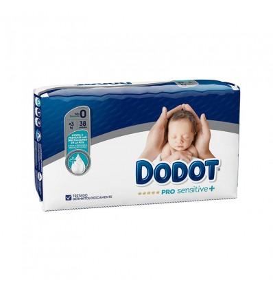 Dodot Prosensitive Taille 0 de 0 à 3 kg 38 Unités