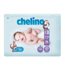 Chelino Couche bébé Taille 3 4-10 kg 36 unités