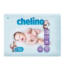 Chelino Fralda de bebe tamanho 4 9-15 kg 34 unidades