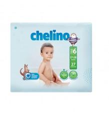 Chelino Fralda de bebe tamanho 6 17-28 kg 27 unidades