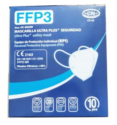 Masque Ffp3 Club Nautico Blanc Boîte De 10 Unités