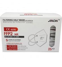 Masken FFP2 Nr Jiada Weiß 25 Stück Komplette Schachtel