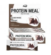 Protéines Barres Repas Chocolat 12 Unités Pwd Nutrition