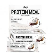 Protein Meal Barras de Coco com Chocolate 12 Unidades Pwd Nutrition