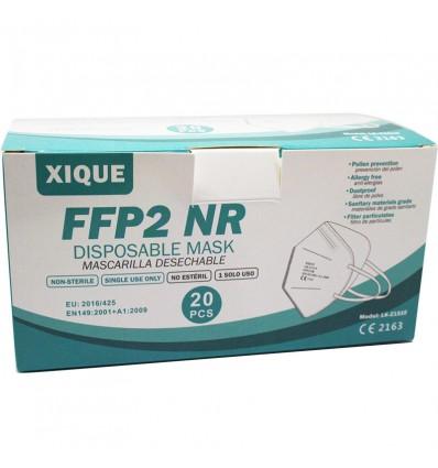 Mascarilla Ffp2 Nr Xique Blanca Caja 20 Unidades