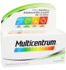 Multicentrum 90 Comprimidos ingredientes