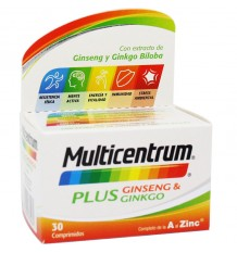 Multicentrum Plus Gingseng Ginkgo 30 Compimidos