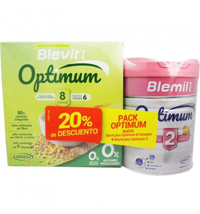 Blemil Optimum 2 800g + Blevit Optimum 8 Cereal 800g