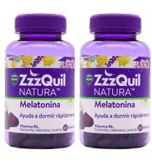 Zzzquil Natura Melatonin 60+60 Gummy Pack Duplo