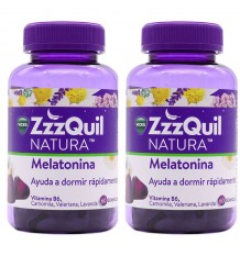 Zzzquil Natura Mélatonine 60+60 Gummy Pack Duplo