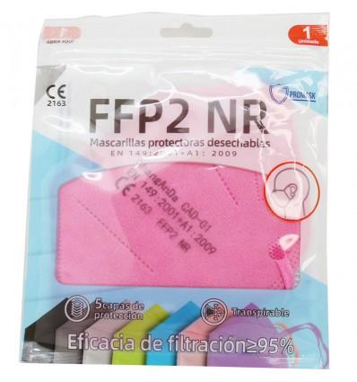 Mascarilla FFP2 NR Promask Rosa 1 Unidad