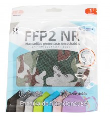 Máscara FFP2 NR Promask Camuflagem Militar 1 Unidade