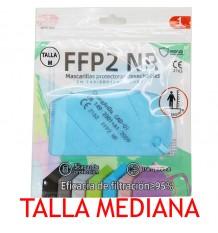 Maske FFP2 NR Promask Blau transparent 1 Stück Mittlere Größe