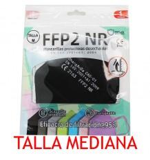 Mascarilla FFP2 NR Promask Negra 1 Unidad Talla Mediana