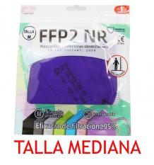 Maske FFP2 NR Promask Lila-1 Stück Mittlere Größe