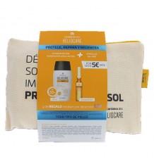 Heliocare 360 Wasser-Gel 50ml + Endocare Radiance Oil free 10 Ampullen + Beutel