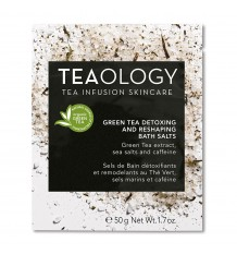 Teaology Vert De Thé De Désintoxication Et De Remodelage Bain De Sel 50 Grammes